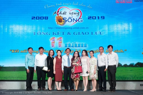 [Picture] –  Tan Phuoc Khanh Trading and Manufacturing Coil Steel Join Stock Company congratulating the 11th anniversary of Khat Vong Song Program